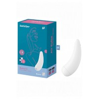 Вакуумно-волновой стимулятор «Satisfyer» Curvy 2+ с возможностью управления через приложение – белый