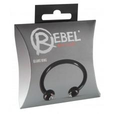 «Rebel» Насадка-кольцо Glans Ring с шариками (металл)