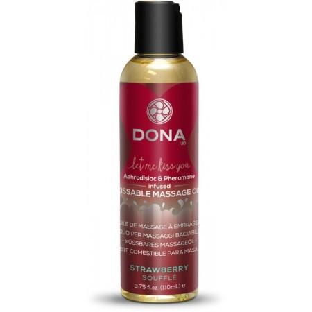 """""""DONA"""" Kissable Massage Oil Strawb массажное масло для поцелуев с феромонами и ароматом """"Клубничное суфле"""""""